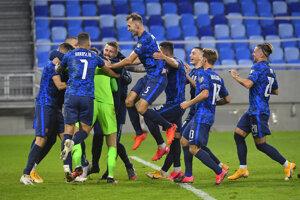 Momentka zo zápase Slovensko - Írsko, baráž o EURO 2020.