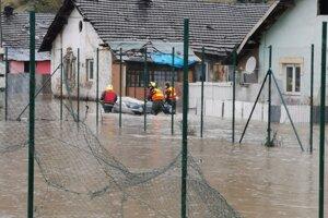 Evakuácia v Krompachoch.