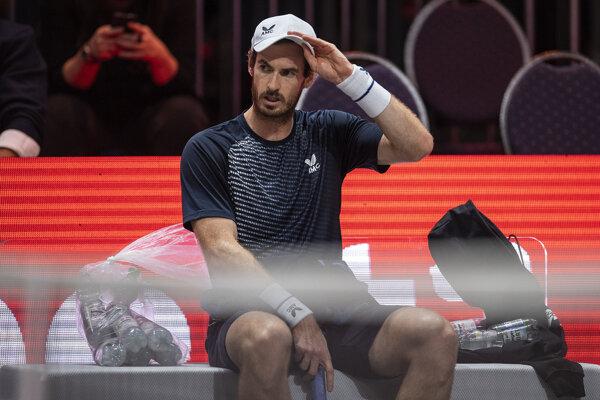 Andy Murray na turnaji ATP v Kolíne nad Rýnom.