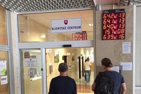 Klientske centrum OÚ Prešov.