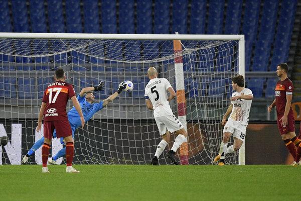 Zápas AS Rím - Benevento.