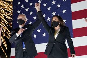 Demokratický kandidát na prezidenta USA Joe Biden a kandidátka na viceprezidentku Kamala Harrisová.
