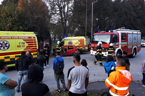 Dopravná nehoda na Balkáne.