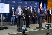 Tlačová konferencia po skončení Ústredného krízového štábu.