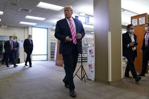 Americký prezident Donald Trump odovzdal svoj hlas.