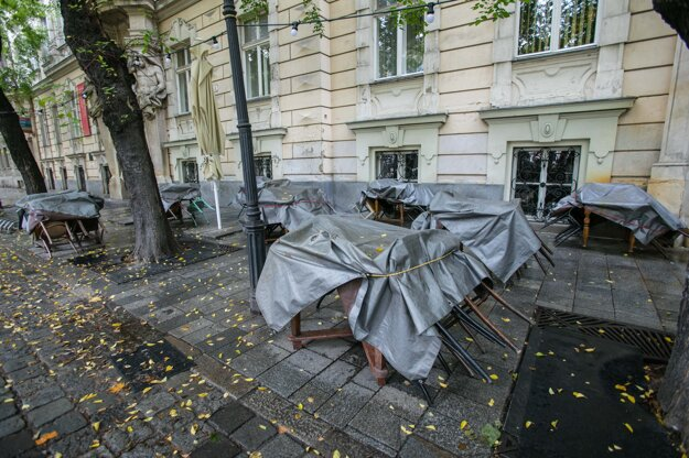 Ulice Starého Mesta v Bratislave počas čiastočného lockdownu