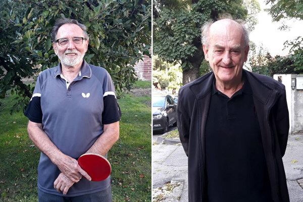 Tibor Billich (vľavo) a Rudolf Daniš budú mať v novembri 77 rokov. Ešte stále sú aktívni hráči.