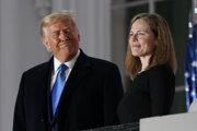 Americký prezident Donald Trump a sudkyňa Amy Coney Barrettová.