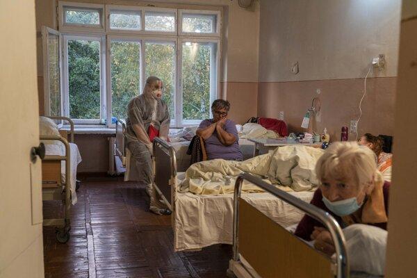 Nemocnica v ukrajinskom Stebnyku.