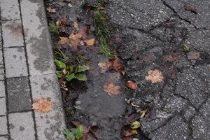 Spod zeme na Gápľovej ulici vyrazila voda. Nebola z prasknutého kanála.