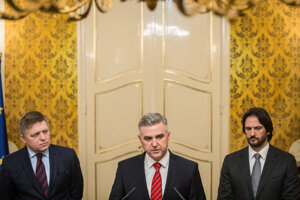 Robert Fico, Tibor Gašpar a Robert Kaliňák.