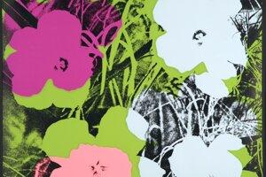 Jedno z diel Andyho Warhola z portfólia Kvety.