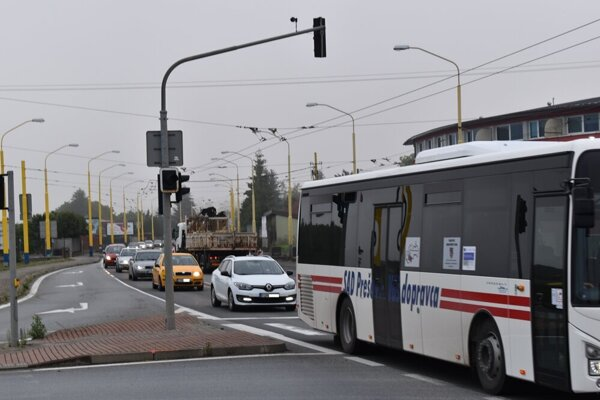 Cesta I/18 v Prešove.