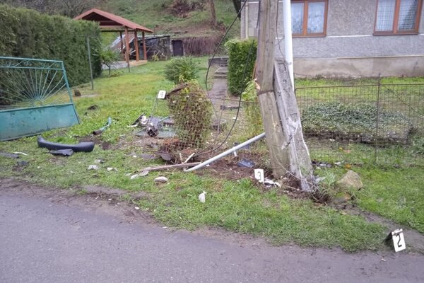 Po nehode v Somotore.