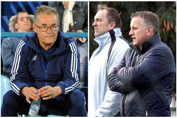 Ivan Galád (vľavo) už nie je športovým riaditeľom FC Nitra. Popri generálnom manažérovi Jozefovi Petránim (úplne vpravo) sa do klubu vrátil aj Ivan Ondruška.