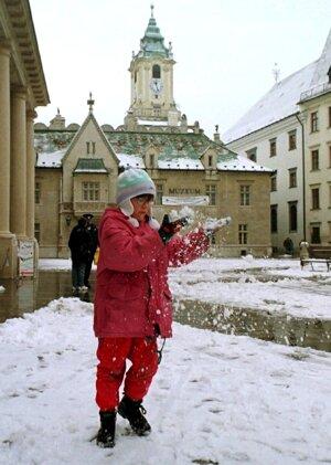 Dni so snehovou prikrývkou sú v Bratislave čoraz vzácnejšie.