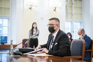 Tomáž Honz na vypočutí kandidátov na funkciu generálneho prokurátora.