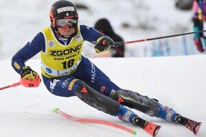 Talianka Federica Brignoneová v 2. kole prvého slalomu novej sezóny Svetového pohára v alpskom lyžovaní žien vo fínskom Levi.