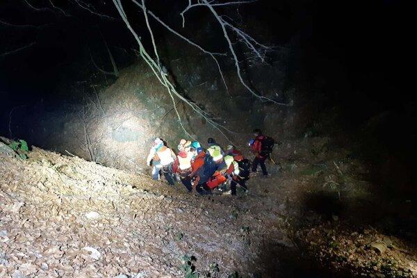 Záchranná akcia sa konala vo veľmi exponovanom teréne.