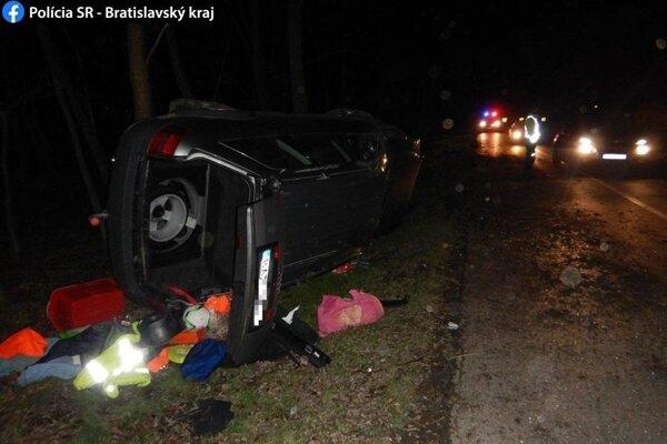Foto z miesta nehody