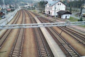 Hlavná stanica v Skalitom.