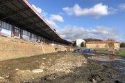 Na štadióne aktuálne prebieha rozsiahla rekonštrukcia