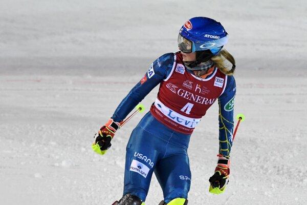 Mikaela Shiffrinová počas SP v Levi 2020.