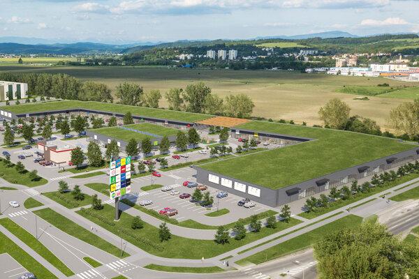 Vizualizácie druhej časti Retail parku.
