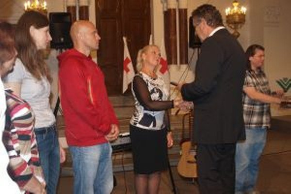 Ocenenia darcom odovzdal primátor Jozef Dvonč.