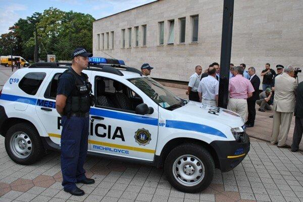 Mestská polícia v Michalovciach.