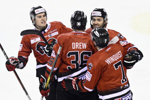Hokejisti HC'05 Banská Bystrica.