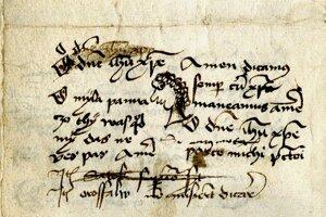 Pisár Leonard si skúšal brko a popri tom načrtol kresbu ženy a napísal prvé milostné verše na našom území.