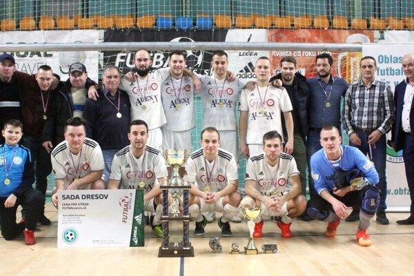Futbalisti TJ Slovan Chrenová, víťazi Moget Cupu 2018.