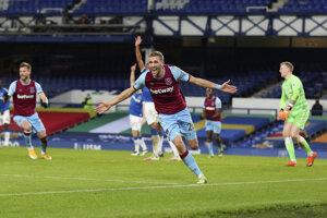 Tomáš Souček rozhoduje zápas Everton - West Ham.