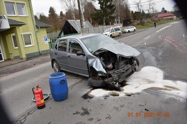 Novoročná dopravná nehoda v Lučenci.