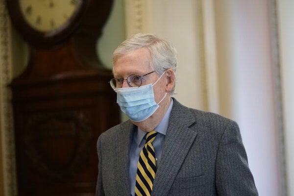 Líder republikánskej väčšiny v americkom Senáte Mitch McConnell.