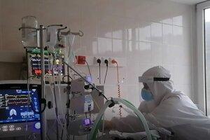 Covid oddelenie v nemocnici.