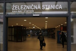 Podchod na železničnej stanici v Prešove.
