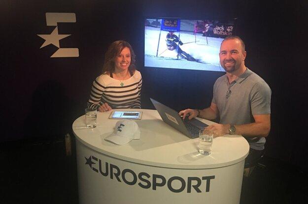 Eva Kurfürstová v štúdiu Eurosportu.