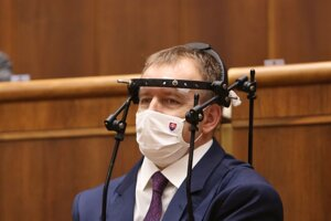 Predseda parlamentu Boris Kollár počas rokovania 22. schôdze Národnej rady SR.