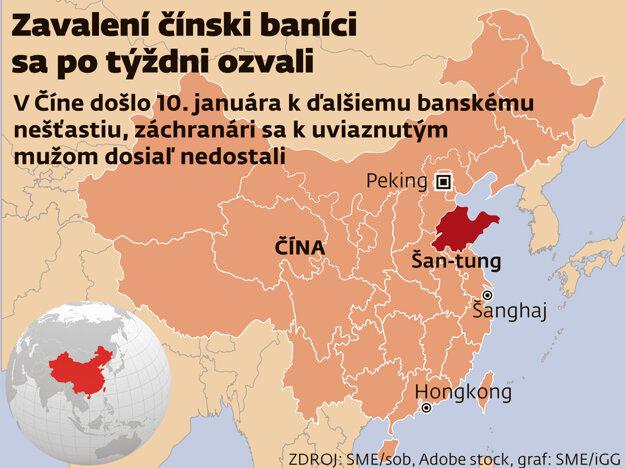 Zavalení čínski baníci sa po týždni ozvali.