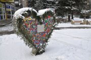 Jedno srdce je v centre mesta.