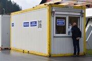 Mobilné odberové miesto na sídlisku SNP v Považskej Bystrici