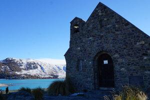 Kostol dobrého pastiera pri jazere Tekapo.