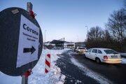 Hraničný priechod z Českej Republiky do nemeckej obce Furth in Wald v Bavorsku v pondelok 25. januára.