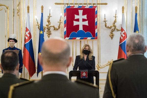Prezidentka Zuzana Čaputová menovala a povýšila do generálskych hodností 8 príslušníkov armády.