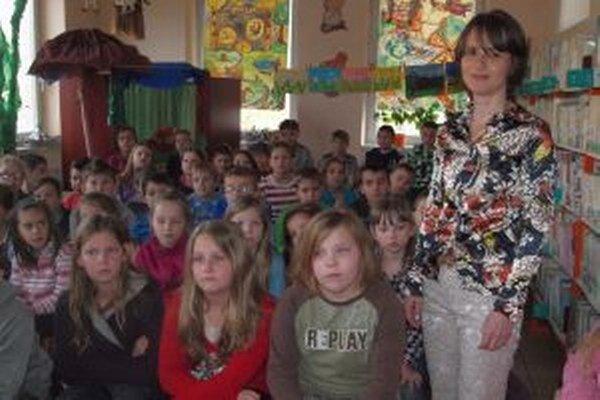 Ľubica Suballyová sa stretla s deťmi v krajskej knižnici v Nitre.