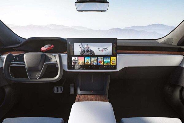 Nová prístrojová doska Tesly Model S.