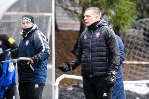 Ľuboš Benkovský v jedinom zimnom prípravnom zápase Zlatých Moraviec (0:2 s Podbrezovou).