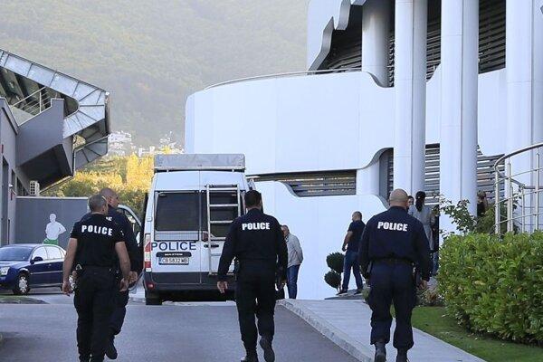 Príslušníci bulharskej polície.